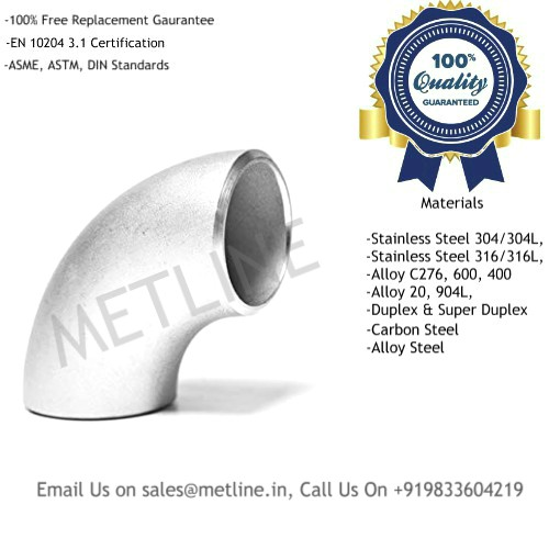 90 Deg Elbow Manufacturers, Suppliers, Factory