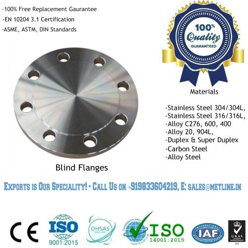 Blind Flanges Manufacturers, Suppliers, Factory