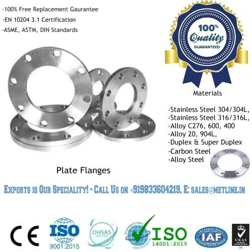 Plate Flanges Manufacturers, Suppliers, Factory