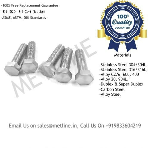 Bolts Manufacturers, Suppliers, Exporters, Factory