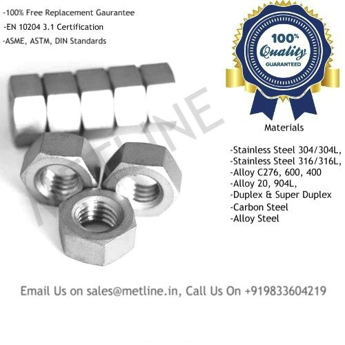 Hex Nuts Manufacturers, Suppliers, Factory