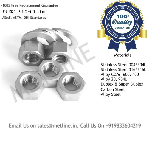 Nuts & Washer Manufacturers, Suppliers, Exporters, Factory