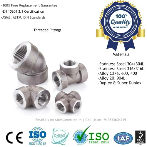 Elbow, Cross, Street Elbow, Tee, Coupling, Half Coupling, Reducing Coupling, Outlet, Cap, Bushing, Union, Hex Nipple, Hex Plug, Square Plug, Round Plug