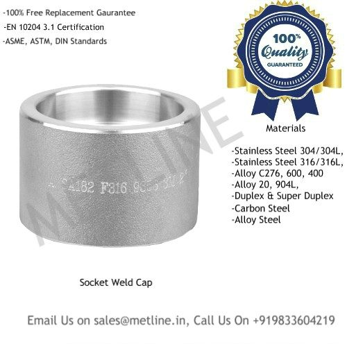 Socket Weld Cap Manufacturers, Suppliers, Exporters