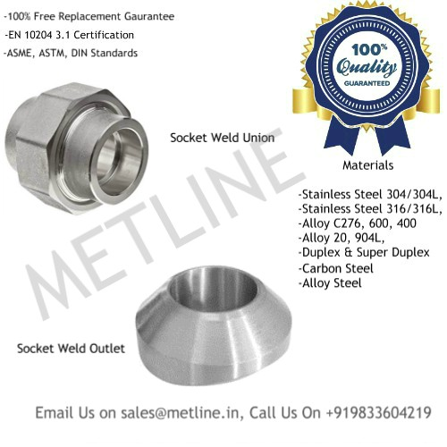 Socket Weld Union, Socket Weld Outlet Manufacturers, Suppliers, Factory