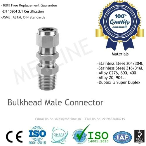 Bulkhead Male Connector Manufacturers, Suppliers, Factory - Instrumentation Tube Fittings