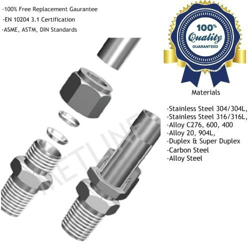 Double Ferrule Compression Fittings Manufacturers, Suppliers, Factory