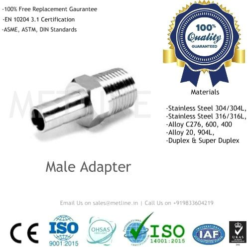 Male Adapter Manufacturers, Suppliers, Factory - Instrumentation Tube Fittings