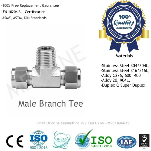 Male Branch Tee Manufacturers Suppliers Factory - Instrumentation Tube Fittings