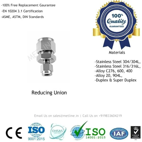 Reducing Union Manufacturers, Suppliers, Factory - Instrumentation Tube Fittings