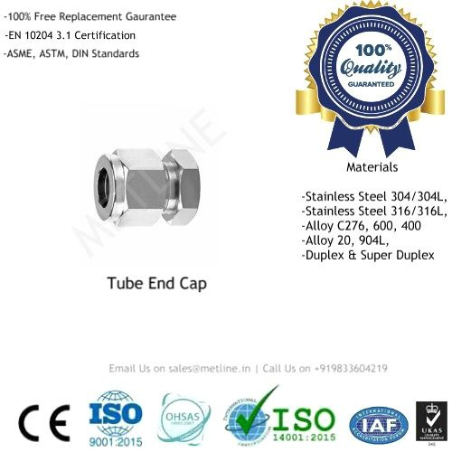 Tube End Cap Manufacturers, Suppliers & Factory - Instrumentation Tube Fittings