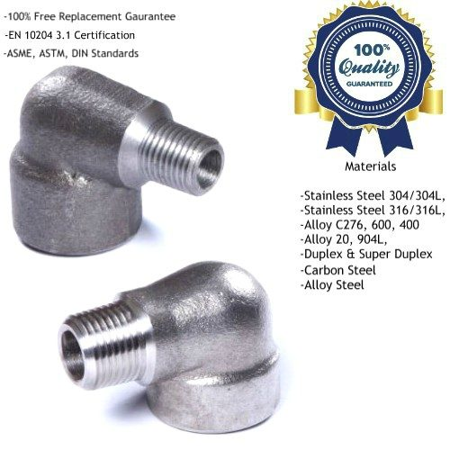 Threaded Screwed Street Elbow Manufacturers, Suppliers, Exporters